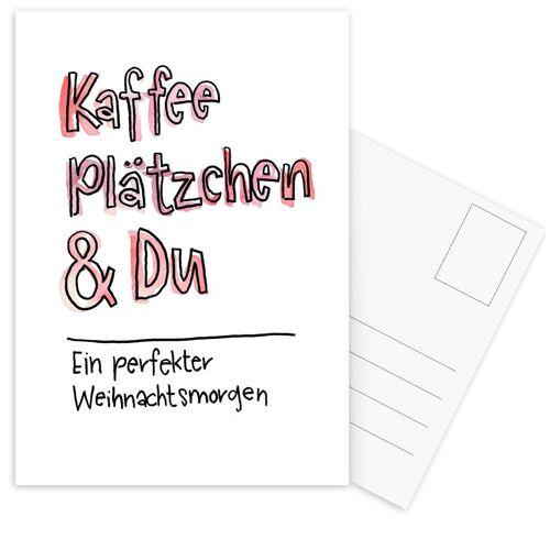 """JUNIQE Postkarten Zitate & Slogans """"Kaffee & Du"""" von JUNIQE - Karten Kunst"""