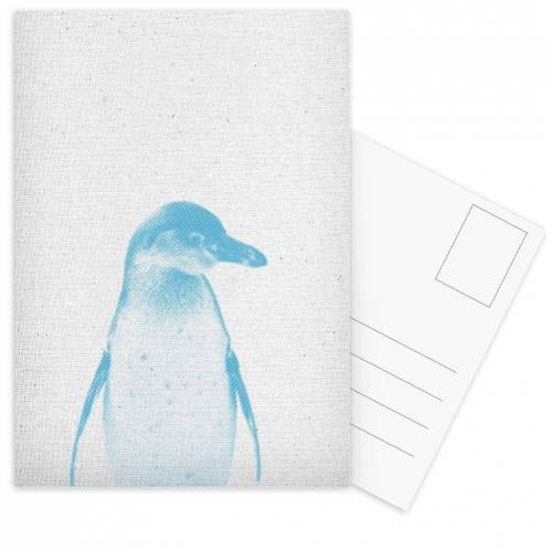 """JUNIQE Postkarten Pinguine """"Pinguin 01"""" von JUNIQE - Karten Kunst"""