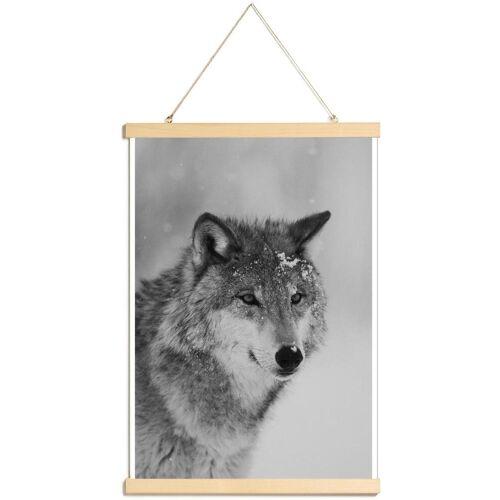 """JUNIQE Poster mit Posterleisten Wölfe """"The Wolf"""" von JUNIQE - Künstler: JUNIQE"""