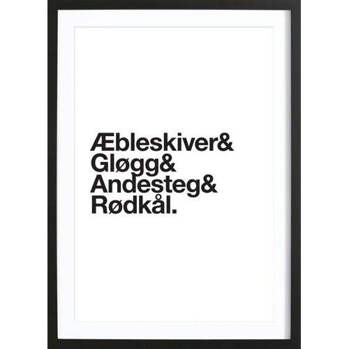 """JUNIQE Bild Weihnachten """"Æbleskiver & Rødkål"""" von JUNIQE - Künstler: JUNIQE"""