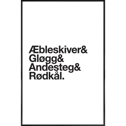 """JUNIQE Poster Weihnachten """"Æbleskiver & Rødkål"""" von JUNIQE - Künstler: JUNIQE"""