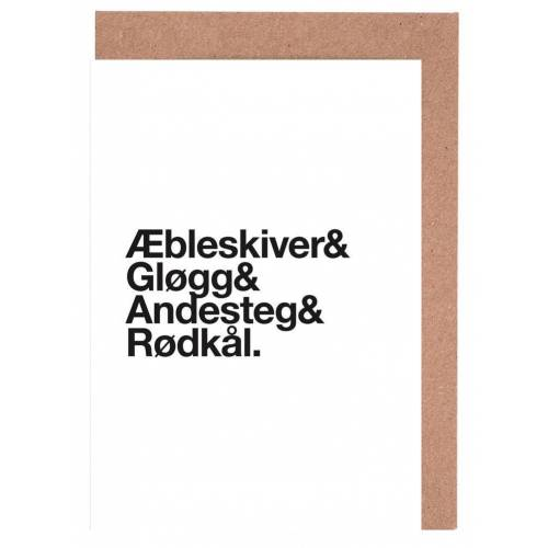 """JUNIQE Grußkarten Weihnachten """"Æbleskiver & Rødkål"""" von JUNIQE - Karten Design"""