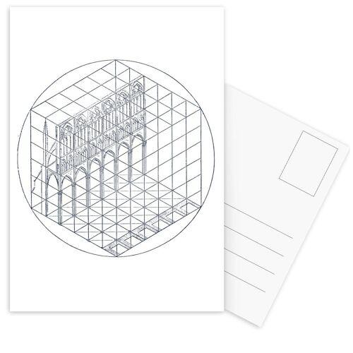 """JUNIQE Postkarten Venedig """"Facade"""" von JUNIQE - Karten Kunst"""