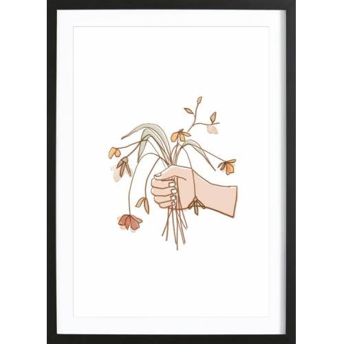 """JUNIQE Bild Blumen """"Verwelkter Strauss"""" von JUNIQE - Künstler: Farina Kuklinski"""
