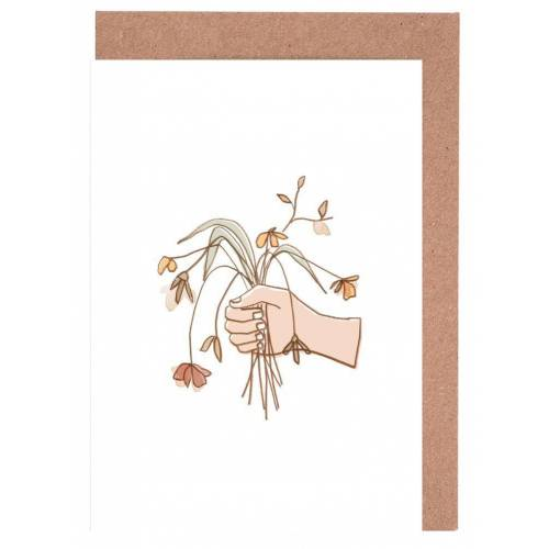 """JUNIQE Grußkarten Blumen """"Verwelkter Strauss"""" von JUNIQE - Karten Design"""