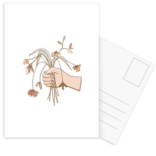 """JUNIQE Postkarten Blumen """"Verwelkter Strauss"""" von JUNIQE - Karten Kunst"""