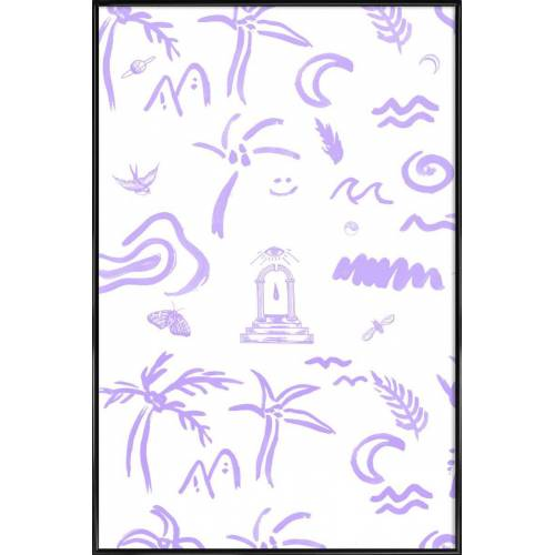"JUNIQE Poster Muster ""4EVA"" von JUNIQE - Künstler: Daniela Roessler"