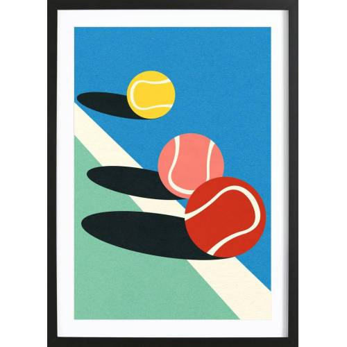 """JUNIQE Bild Tennis """"3 Tennis Balls"""" von JUNIQE - Künstler: Rosi Feist"""