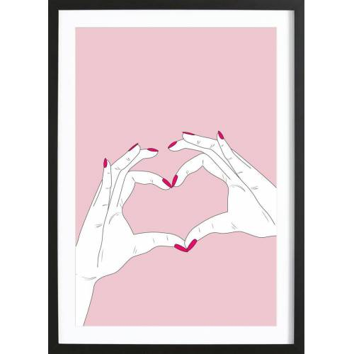 "JUNIQE Bild Herzen ""We Heart You"" von JUNIQE - Künstler: GLOSSYBOX"