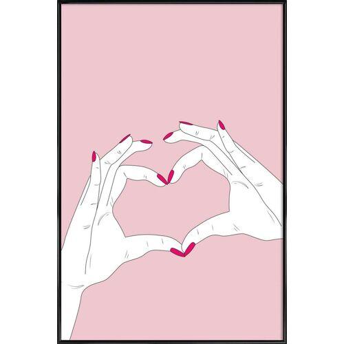 "JUNIQE Poster Herzen ""We Heart You"" von JUNIQE - Künstler: GLOSSYBOX"