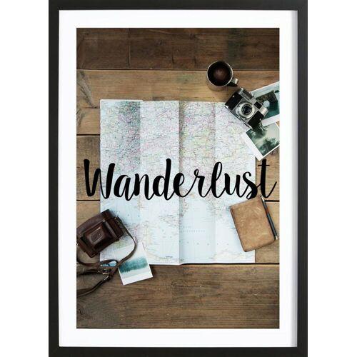 """JUNIQE Bild Reise """"Wanderlust"""" von JUNIQE - Künstler: GLOSSYBOX"""