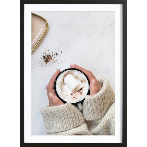 """JUNIQE Bild Kaffee """"It's Cold Outside"""" von JUNIQE - Künstler: GLOSSYBOX"""