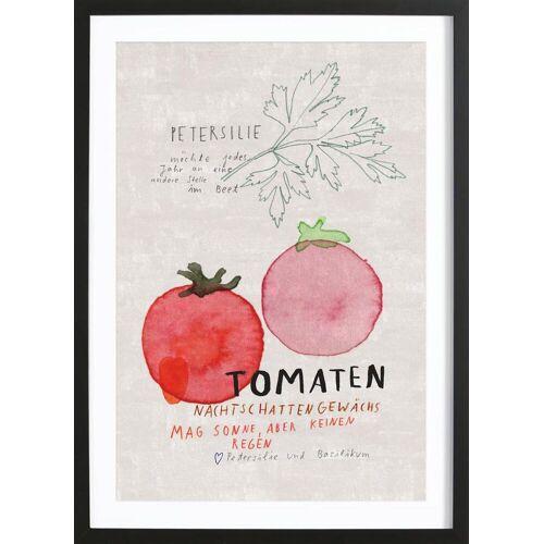 "JUNIQE Bild Tomaten ""Tomate"" von JUNIQE - Künstler: Rinah Lang"