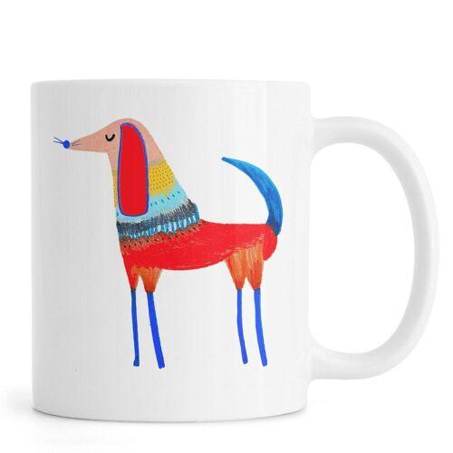 """JUNIQE Tassen Hunde """"Dog Red"""" von JUNIQE"""