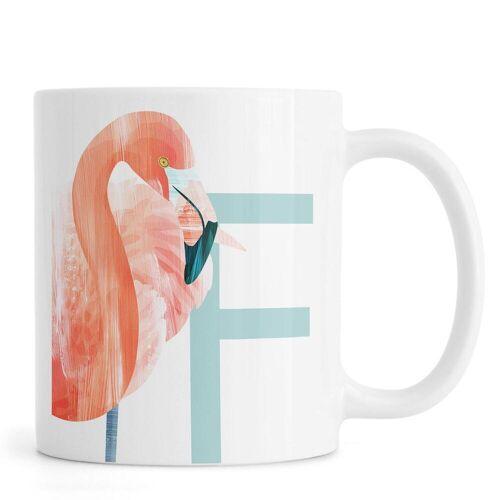 """JUNIQE Tassen Flamingos """"F Flamingo"""" von JUNIQE"""