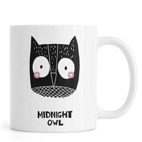 """JUNIQE Tassen Eulen """"Midnight Owl"""" von JUNIQE"""