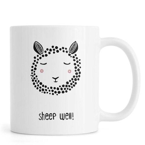 """JUNIQE Tassen Schafe """"Sheep Well!"""" von JUNIQE"""