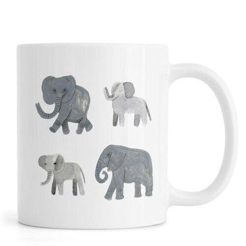 """JUNIQE Tassen Elefanten """"Nellie and co."""" von JUNIQE"""