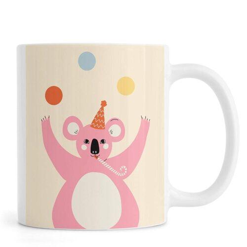 "JUNIQE Tassen Koalas ""Juggling Koala"" von JUNIQE"