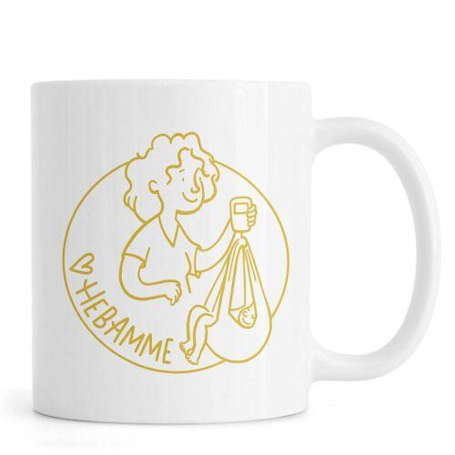 """JUNIQE Tassen Muttertag """"Mierau Hebamme Gold"""" von JUNIQE"""