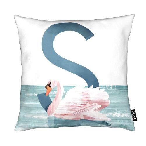 """JUNIQE Deko Kissen Vögel """"S Swan"""" von JUNIQE"""