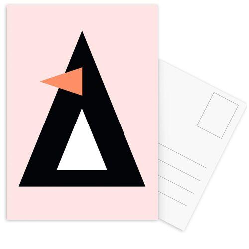 """JUNIQE Postkarten Pinguine """"Cher the Penguin"""" von JUNIQE - Karten Kunst"""