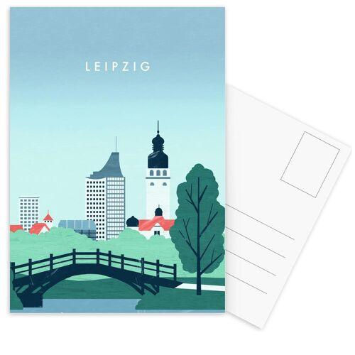 """JUNIQE Postkarten Reise """"Leipzig"""" von JUNIQE - Karten Kunst"""