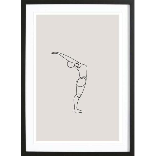 """JUNIQE Bild Yoga """"Standing Backbend"""" von JUNIQE - Künstler: Klaus with K"""