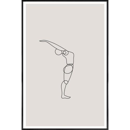 """JUNIQE Kunstdruck Yoga """"Standing Backbend"""" von JUNIQE - Künstler: Klaus with K"""