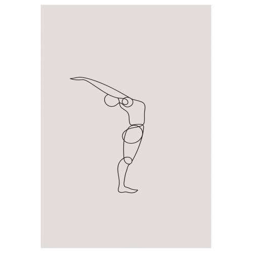 """JUNIQE Leinwandbild Yoga """"Standing Backbend"""" von JUNIQE - Künstler: Klaus with K"""