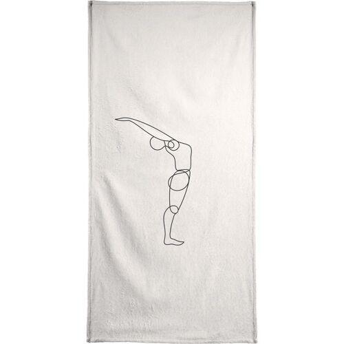 "JUNIQE Handtücher Yoga ""Standing Backbend"" von JUNIQE"