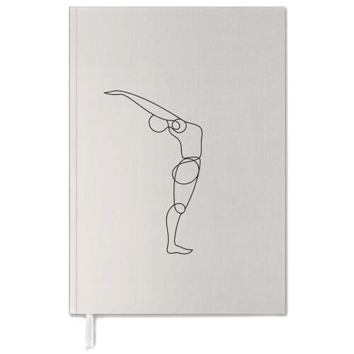 "JUNIQE Terminplaner 2021 Yoga ""Standing Backbend"" von JUNIQE"