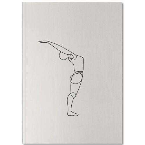 """JUNIQE Notizbuch Yoga """"Standing Backbend"""" von JUNIQE - Notizheft Design"""