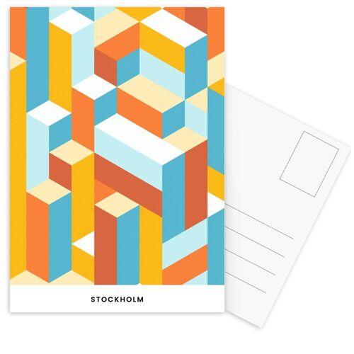 "JUNIQE Postkarten Stockholm ""Stockholm"" von JUNIQE - Karten Kunst"