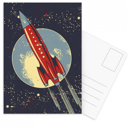 "JUNIQE Postkarten Japanisch inspiriert ""Lift Off"" von JUNIQE - Karten Kunst"