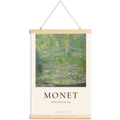 """JUNIQE Poster mit Posterleisten Claude Monet """"Monet - The Water-Lily Pond"""" von JUNIQE - Künstler: Art Classics"""