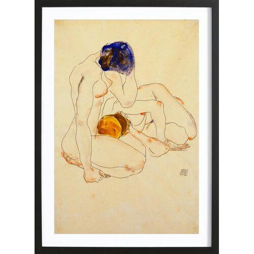 "JUNIQE Bild Egon Schiele ""Schiele - Two Friends"" von JUNIQE - Künstler: Art Classics"