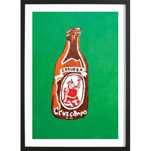 "JUNIQE Bild Bier ""Cerveza"" von JUNIQE - Künstler: Blanca Nuñez Pozuelo"
