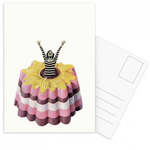 """JUNIQE Postkarten Glückwünsche """"Blancmange Surprise"""" von JUNIQE - Karten Kunst"""