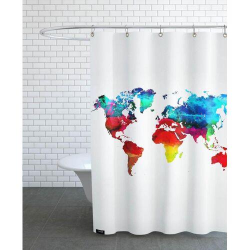 """JUNIQE Duschvorhang Weltkarten """"World Map"""" von JUNIQE"""