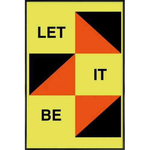 "JUNIQE Poster Songtexte ""Let It Be"" von JUNIQE - Künstler: Naxart"