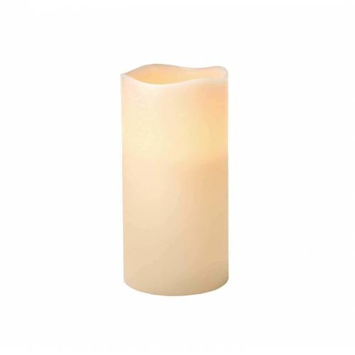NKD LED-Kerze in rustikalem Look, Größe L white --