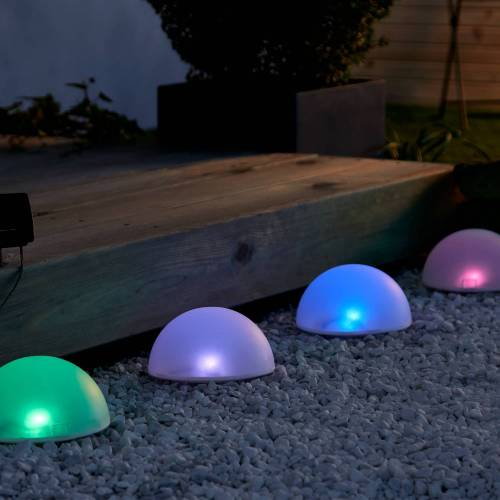 NKD Solar-Bodenlichterkette mit Farbwechsel, ca. 4,5 m multicolored --