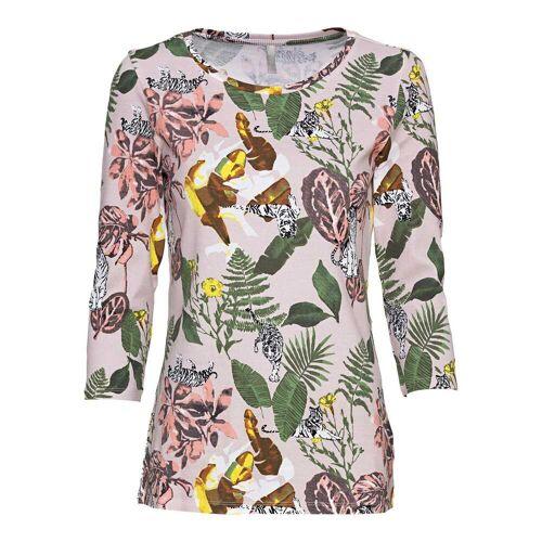NKD Damen-Shirt mit tropischem Muster rose S