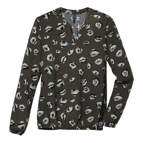 NKD Damen-Bluse mit ausgefallenem Muster dark-green L