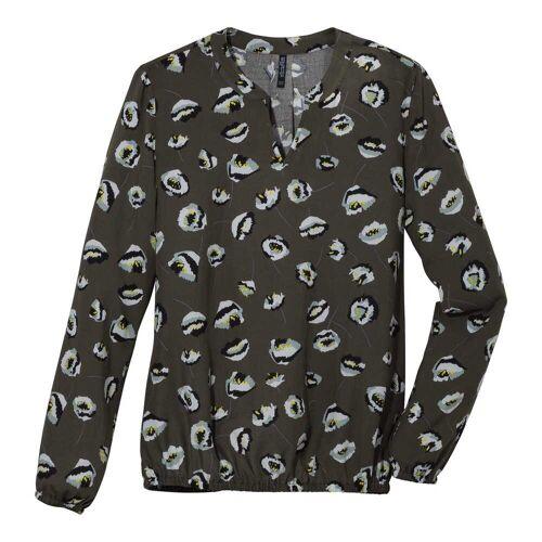NKD Damen-Bluse mit ausgefallenem Muster dark-green M