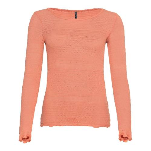 NKD Damen-Shirt mit Ajourmuster light-orange M