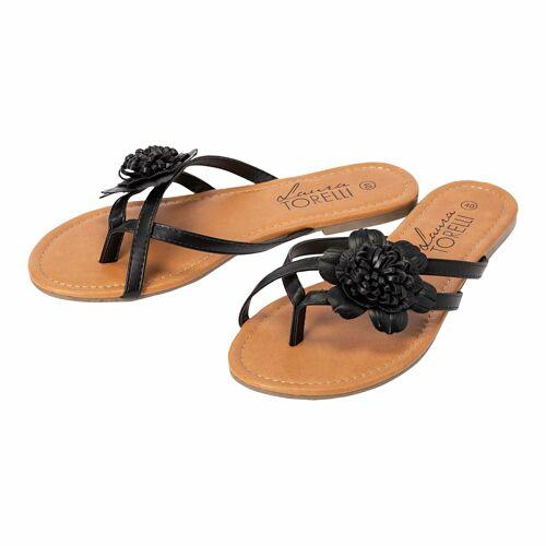 NKD Damen-Sandalen mit schicker Blume black 38