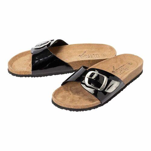 NKD Damen-Schuhe mit großer Schnalle black 38