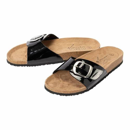 NKD Damen-Schuhe mit großer Schnalle black 37